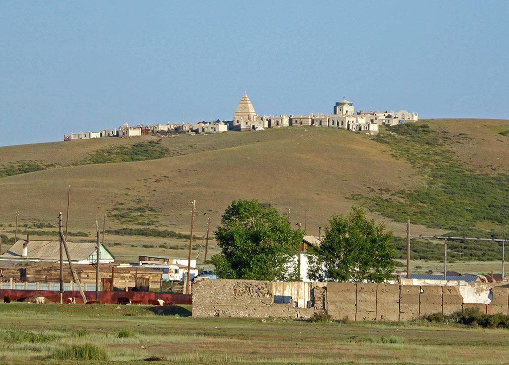 Khazachs Begraafplaats Met Mausoleums